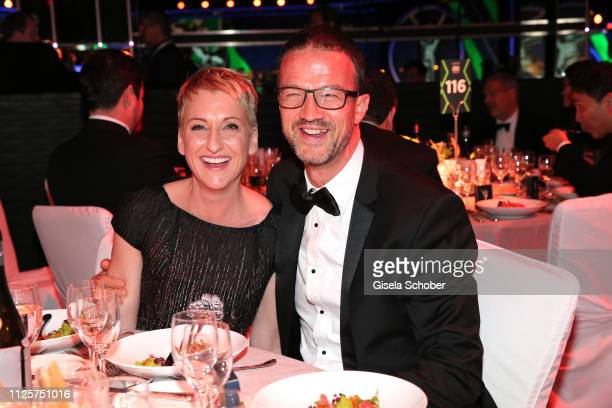 Soccer coach Fredi Bobic and his wife Britta Bobic during the Laureus World Sports Awards 2019 at Monte Carlo Sporting Club on February 18 2019 in...