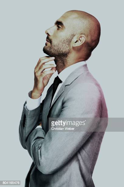 Soccer coach Pep Guardiola photographed on July 16 in Barcelona Spain
