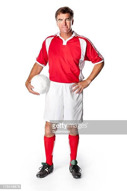 soccer coach player with ball - football strip stock pictures, royalty-free photos & images