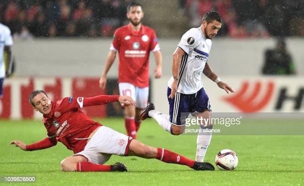 Europa League group stage group C third match day FSV Mainz 05 vs RSC Anderlecht Opel Arena Mainz Germany 20 October 2016 Mainz's Gaetan Bussmann in...