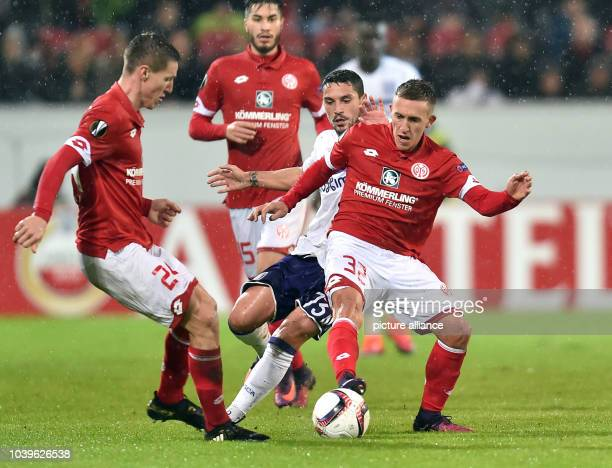 Europa League group stage group C third match day FSV Mainz 05 vs RSC Anderlecht Opel Arena Mainz Germany 20 October 2016 Mainz's Pablo de Blasis in...