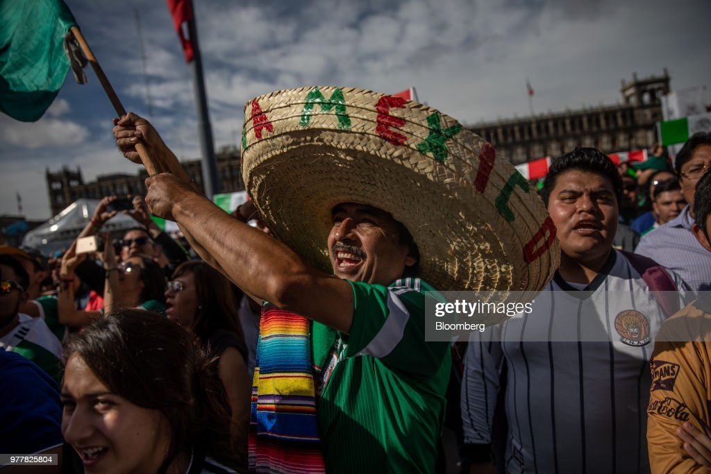 Fans Celebrate As Mexico Defeats Germany In The FIFA World Cup Soccer Group F Opener