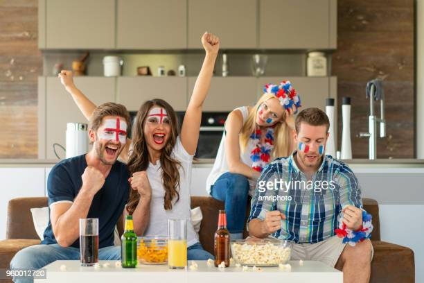 soccer fans at home, goal for england