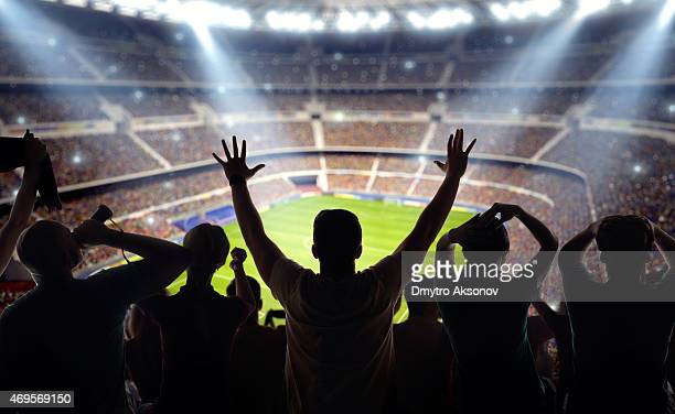 Soccer fans at stadium