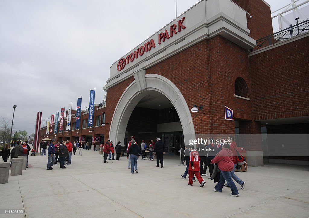 Soccer Fans Begin To Arrive For The Chicago Fireu0027s Home Opener Against The  Philadelphia Union In