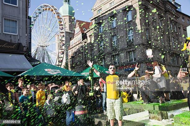 soccer fans celebrating german championship