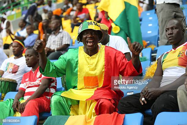 Soccer fans during the African Cup of Nations 2017 Group D football match between Ghana and Uganda in PortGentil Gabon on January 17 2017