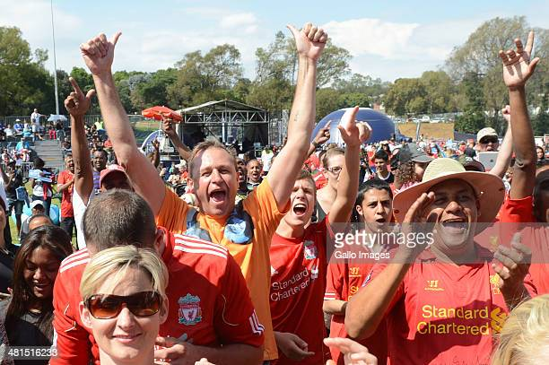 Soccer fans during the Barclays Premier League Live event on March 30, 2014 in Johannesburg, South Africa.