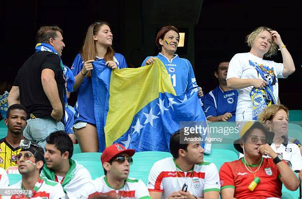 Soccer fans wait for the start of the 2014 FIFA World Cup Group F soccer match between BosniaHerzegovina and Iran at the Arena Fonte Nova in Salvador...