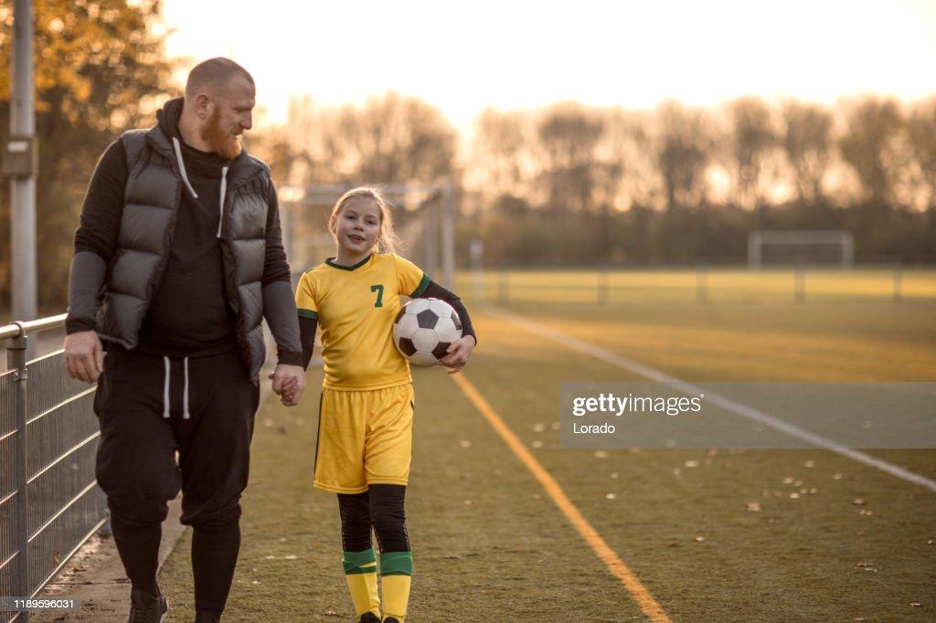 Voetbal vader sport chaperonne : Stockfoto