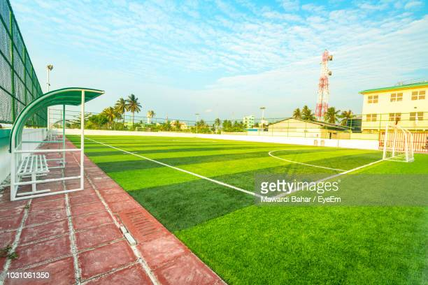 Soccer Field Against Sky