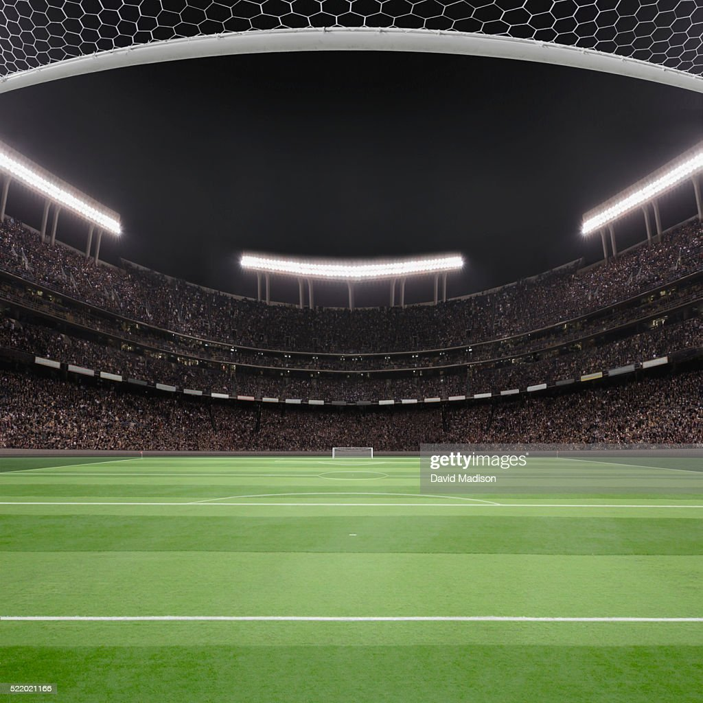 Soccer field and stadium : Stock-Foto