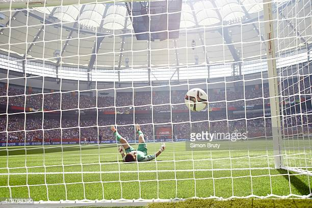 FIFA Women's World Cup Final Japan goalie Ayumi Kaihori in action yielding goal by USA Carli Lloyd during 16th minute of game at BC Place USA...