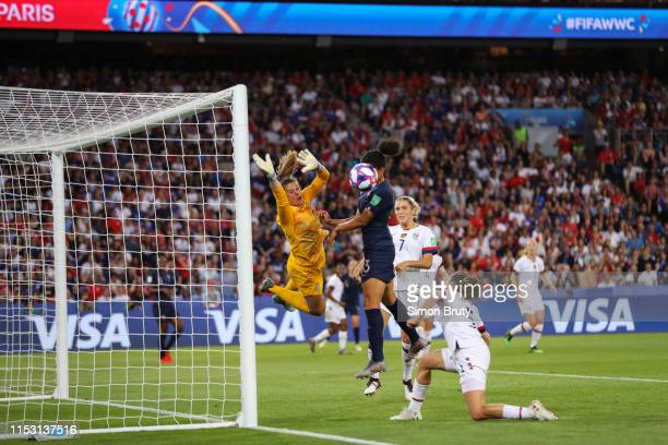 FIFA Women's World Cup USA goalkeeper Alyssa Naeher in action vs France Wendie Renard during Quarterfinals at Parc des Princes Paris France 6/28/2019...