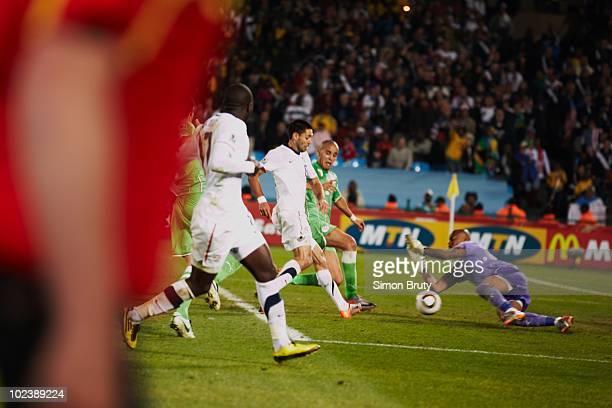 FIFA World Cup Algeria goalie Rais Bolhi in action vs USA during Group C Match 38 at Loftus Versfeld Stadium Tshwane Pretoria South Africa 6/23/2010...