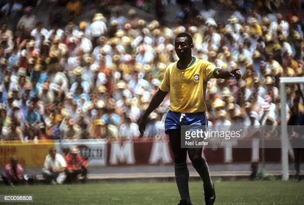 FIFA World Cup Brazil Pele in action vs England during Group 3 match at Estadio Jalisco Guadalajara Mexico 6/7/1970 CREDIT Neil Leifer