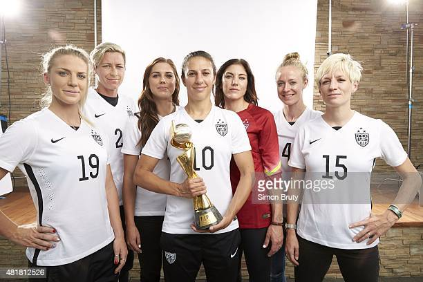 FIFA World Cup Champions Portrait of US Women's National Team Julie Johnston Abby Wambach Alex Morgan Carli Lloyd Hope Solo Becky Sauerbrunn and...
