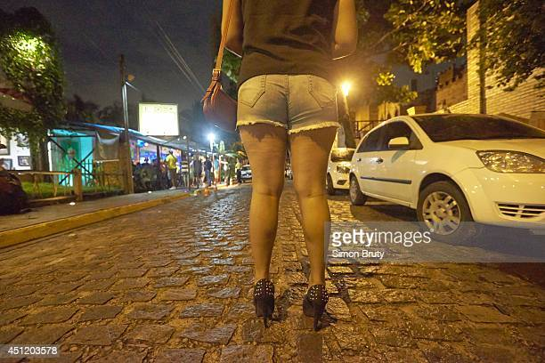 FIFA World Cup Closeup from rear of a prostitute known as Kelly at Ponta Negra beach Natal Brazil 6/13/2014 CREDIT Simon Bruty