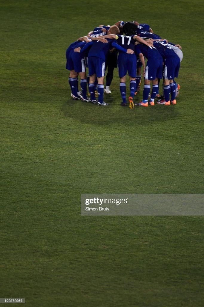 Japan during huddle vs Paraguay during Match 55 - Round of 16 at Loftus Versfeld Stadium. Tshwane Pretoria, South Africa 6/29/2010