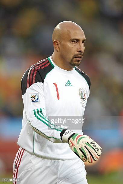 FIFA World Cup Mexico goalie Oscar Perez during Group A Match 1 vs South Africa at Soccer City Stadium Johannesburg South Africa 6/11/2010 CREDIT...