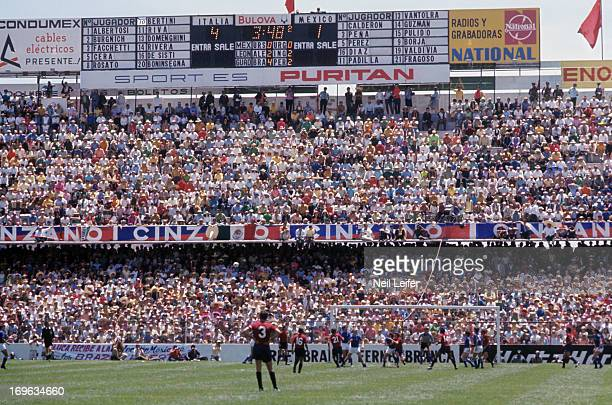 FIFA World Cup Overall view of Italy in action vs Mexico during Quarterfinals at Estadio Luis Dosal Toluca Mexico 6/14/1970 CREDIT Neil Leifer