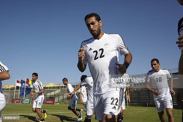 FIFA World Cup Qualification Egypt midfielder Mohamed Aboutrika before CAF Second Round Group G match vs Guinea at El Gouna Stadium El Gouna Egypt...