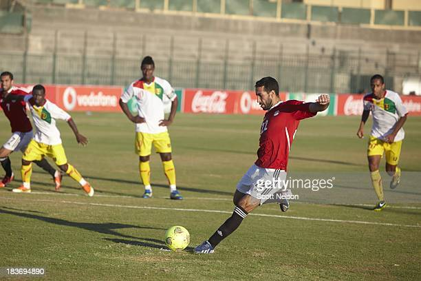 FIFA World Cup Qualification Egypt midfielder Mohamed Aboutrika in action vs Guinea during CAF Second Round Group G match at El Gouna Stadium El...