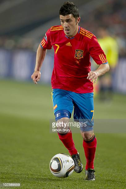 FIFA World Cup Spain David Villa in action vs Honduras during Group H Match 32 at Ellis Park Stadium Johannesburg South Africa 6/21/2010 CREDIT Simon...