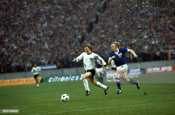 FIFA World Cup West Germany Jurgen Grabowski in action vs East Germany during Group Stage Group 1 match at Volksparkstadion Hamburg West Germany...