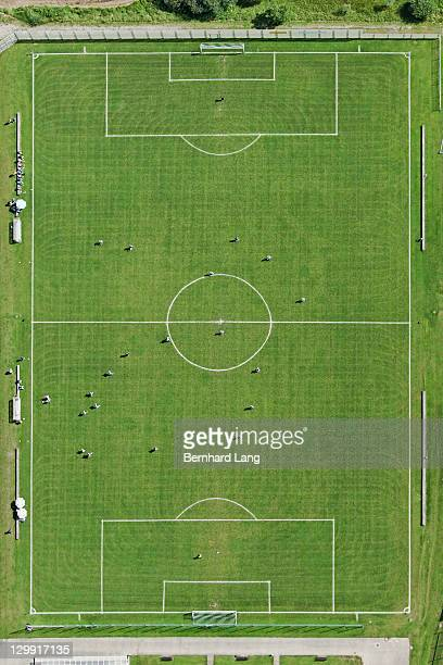 Soccer filed, aerial view