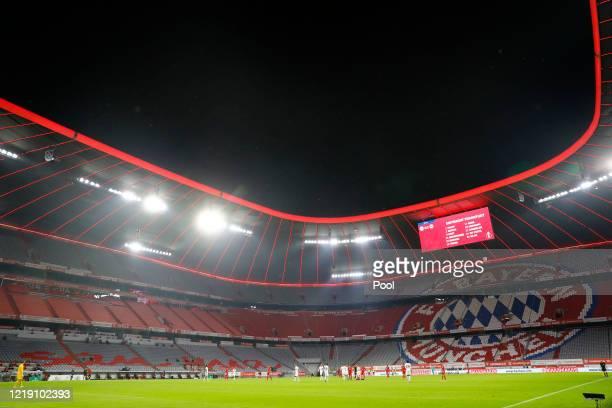 Soccer Football - DFB Cup - Semi Final - Bayern Munich v Eintracht Frankfurt - Allianz Arena, Munich, Germany - June 10, 2020 General view during the...