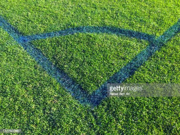 soccer football field corner - rafael ben ari stock pictures, royalty-free photos & images