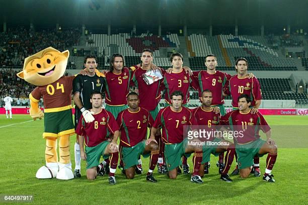 Soccer Friendly game, Portugal vs Spain. The Portuguese team. Football match amical, Portugal contre Espagne. L'équipe Portugaise.