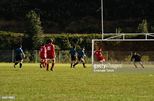 soccer game - amateur stock pictures, royalty-free photos & images