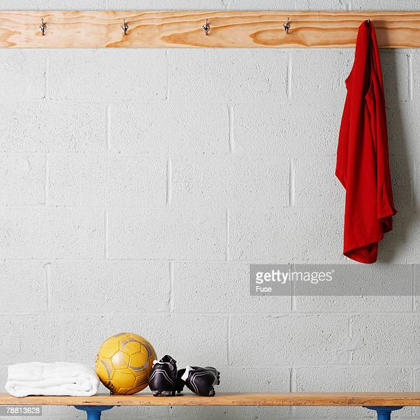 soccer gear - locker room stock pictures, royalty-free photos & images