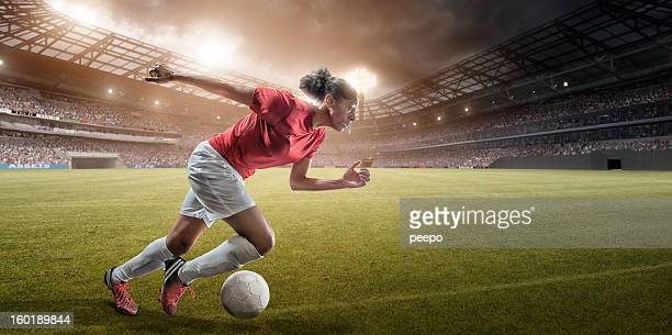 soccer girl is fast - football team stock pictures, royalty-free photos & images