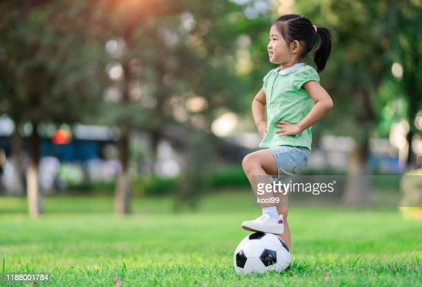 soccer girl - sports training camp stock pictures, royalty-free photos & images