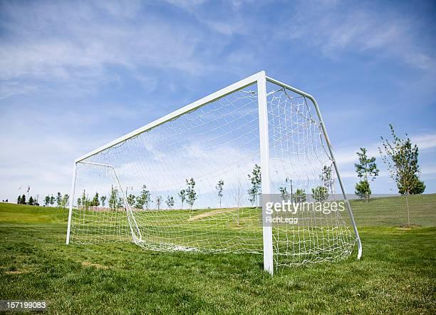 Soccer Goal and Blue Sky