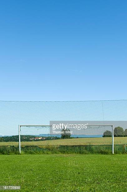 Soccer goal in the countryside