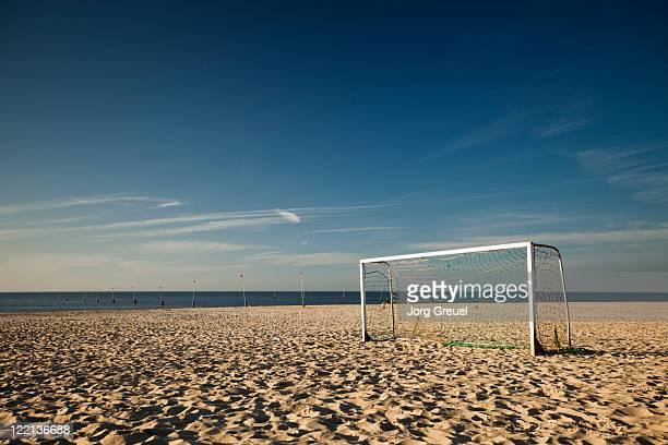 Soccer goal on North Beach