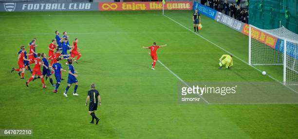 soccer goal - soccer goal stock pictures, royalty-free photos & images