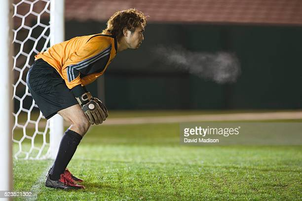 Soccer Goalie Blocking Goal