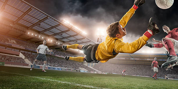 Soccer Goalie In Mid Air Save Wall Art