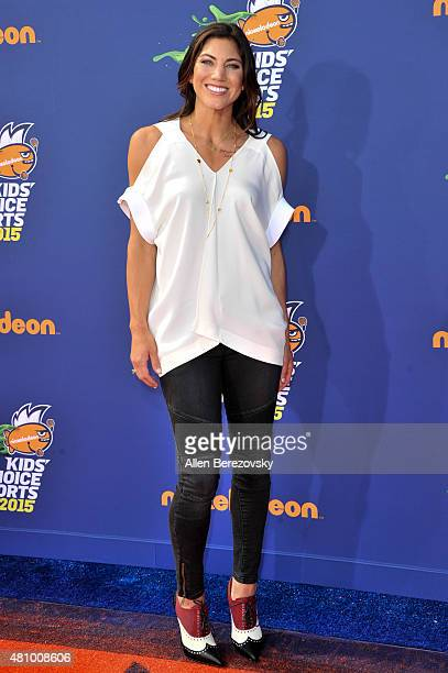 Soccer goalkeeper Hope Solo attends the Nickelodeon Kids' Choice Sports Awards 2015 at UCLA's Pauley Pavilion on July 16 2015 in Westwood California