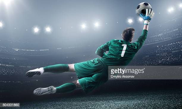 Soccer Goalkeeper in a jump