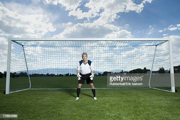 soccer goalkeeper - goalkeeper stock pictures, royalty-free photos & images
