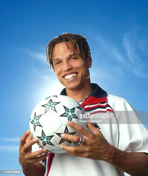 Soccer great Cobi Jones poses for a portrait in Los Angeles California