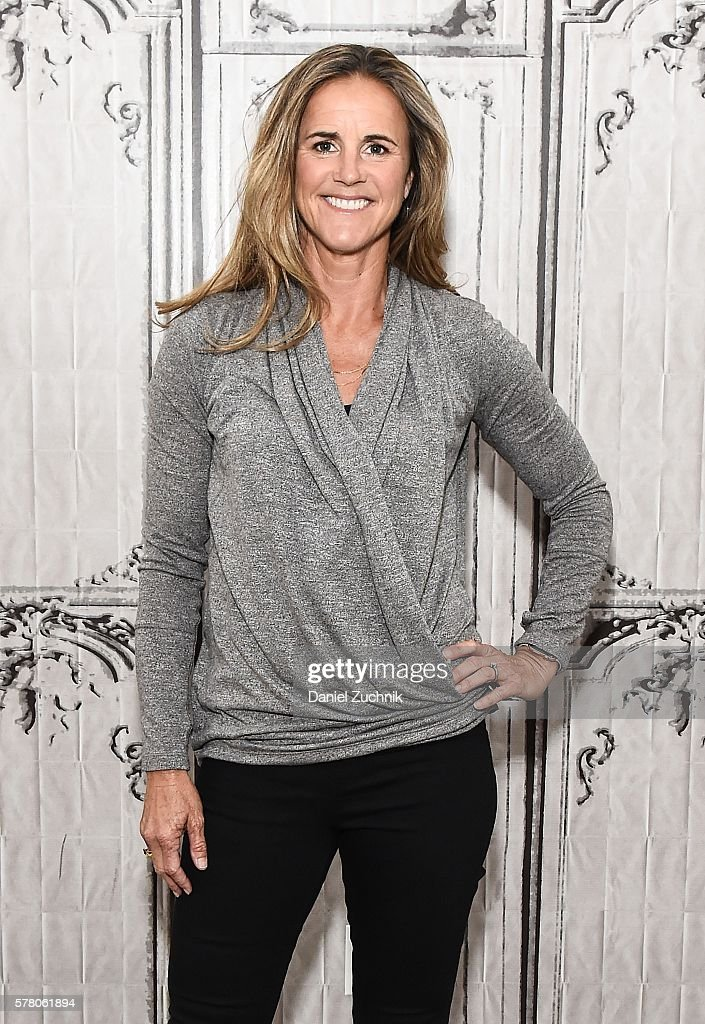 Soccer Hall of Fame Inductee Brandi Chastain attends AOL Build to discuss the Olympic Games at AOL HQ on July 20, 2016 in New York City.