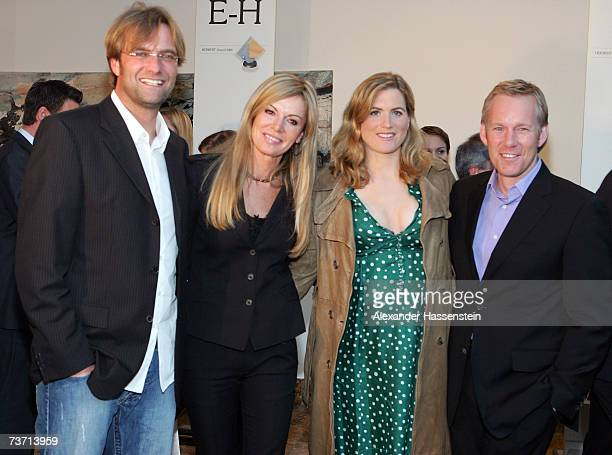 Soccer Headcoach Juergen Klopp poses with his wife Ulla Klopp and TV Presenter Johannes B Kerner and his wife Britta Becker at the Herbert Award 2006...
