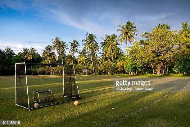 soccer in the tropics - s0ulsurfing stock pictures, royalty-free photos & images
